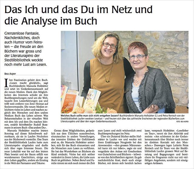 Lesefieber Laufen Artikel Wochenzeitung