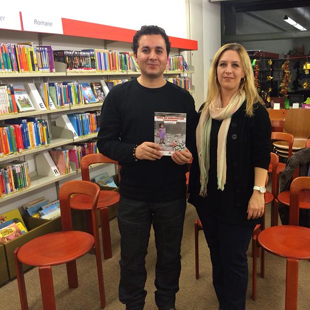 Bibliothek Hombrechtikon mit Nazmi Bakr und seiner Frau