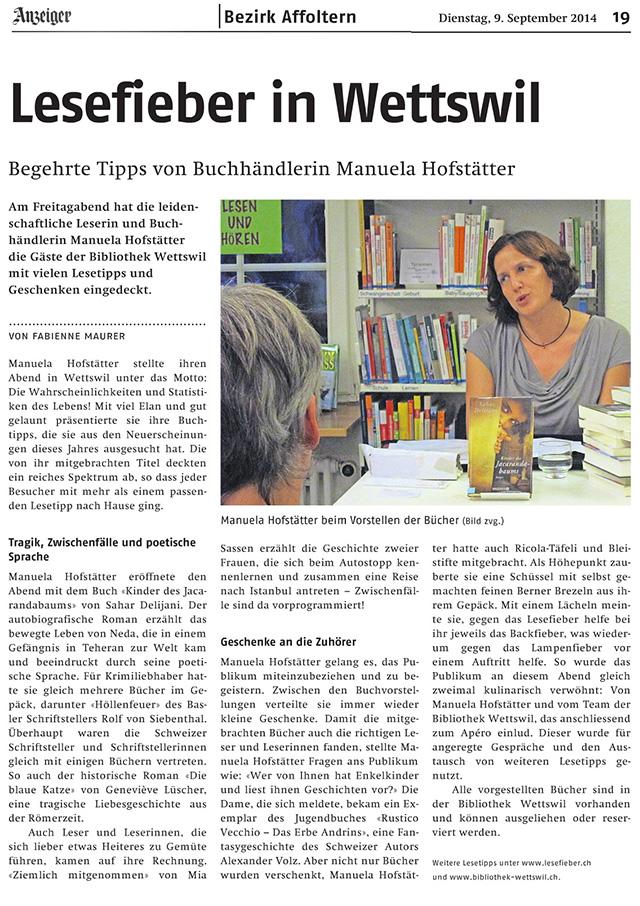 Lesefieber Wettswil