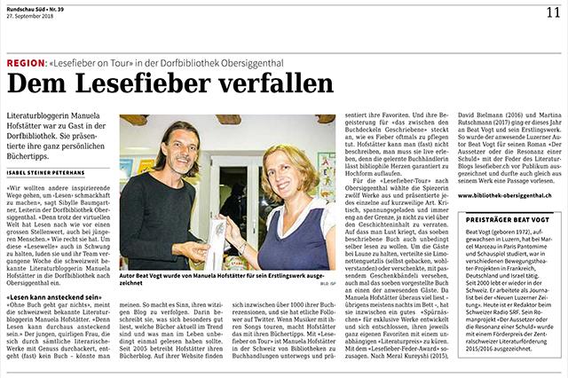 Lesefieber Feder 2018 Obersiggenthal