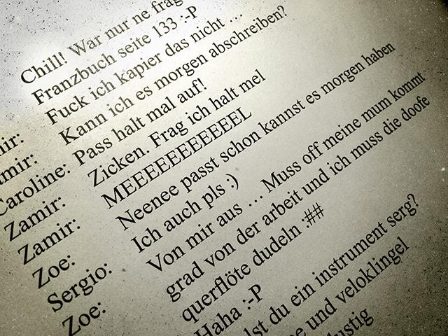 Mirjam & Gregor Klaus / Der Chat